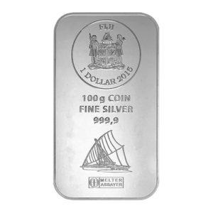100 gram zilverbaar Fiji Argor Heraeus