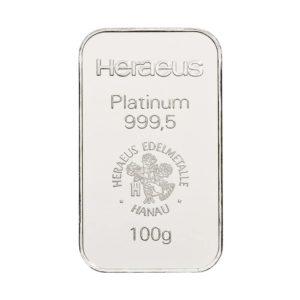 100 gram platinabaar Heraeus