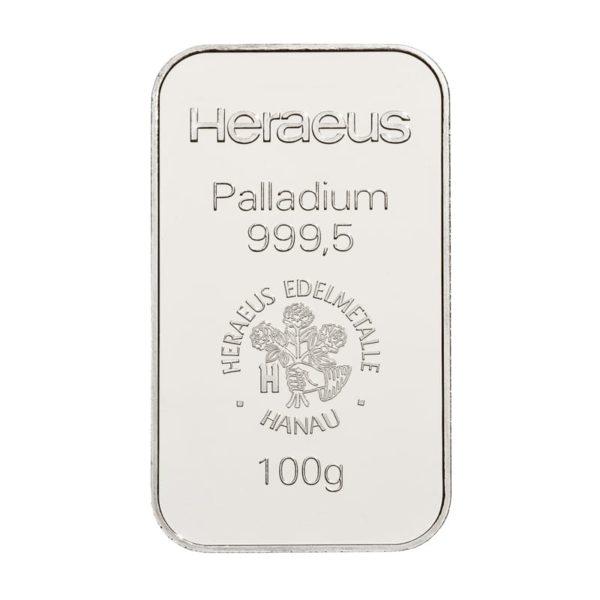 100 gram palladiumbaar Heraeus
