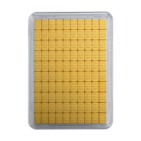 100 x 0,5 gram goudbaar plaat Valcambi