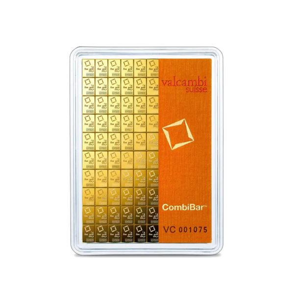 100 x 1 gram goudbaar plaat Valcambi