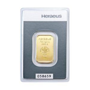 10 gram goudbaar Heraeus