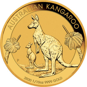 1/10 oz Australian Kangaroo goud (2020)