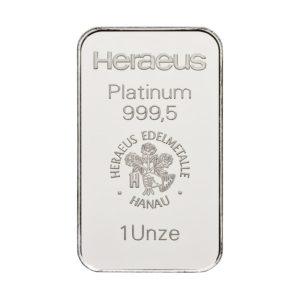 1 oz (31,1) gram platinabaar Heraeus
