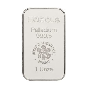 1 oz (31,1) gram palladiumbaar Heraeus