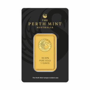 1 oz (31,1 gram) goudbaar Perth Mint