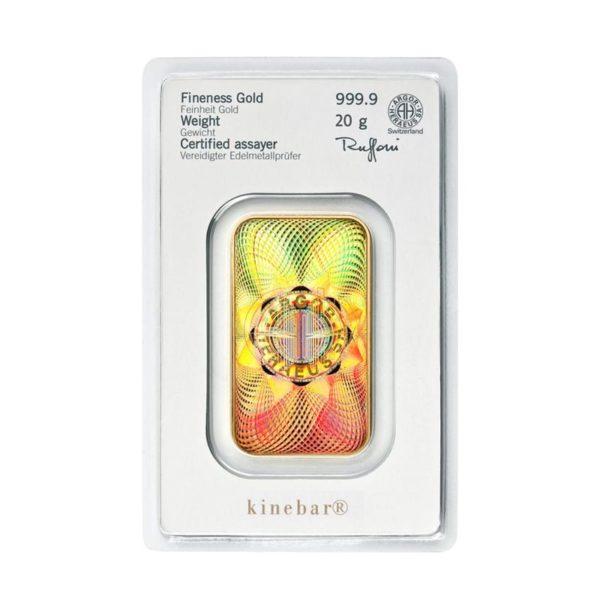 20 gram goudbaar Kinebar Heraeus