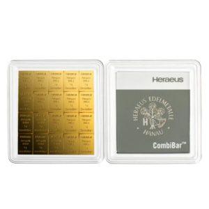 20 x 1 gram goudbaar plaat Heraeus