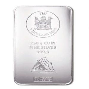 250 gram zilverbaar Fiji Argor Heraeus
