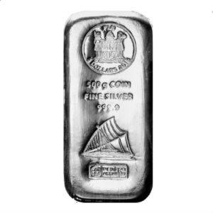 500 gram zilverbaar Fiji Argor Heraeus