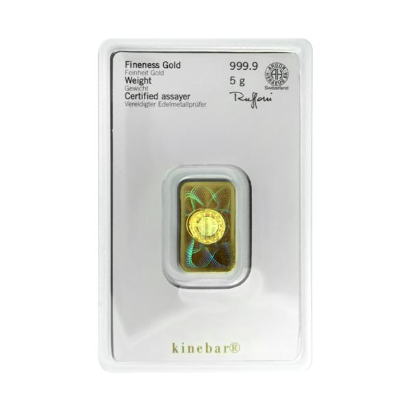 5 gram goudbaar Kinebar Heraeus