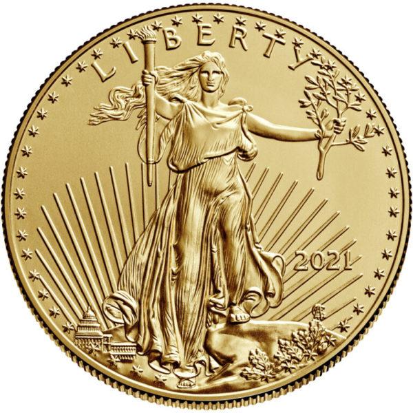 1/2 oz American Eagle goud (2021)