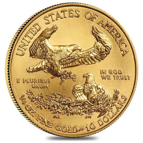 1/4 oz American Eagle goud (2021)