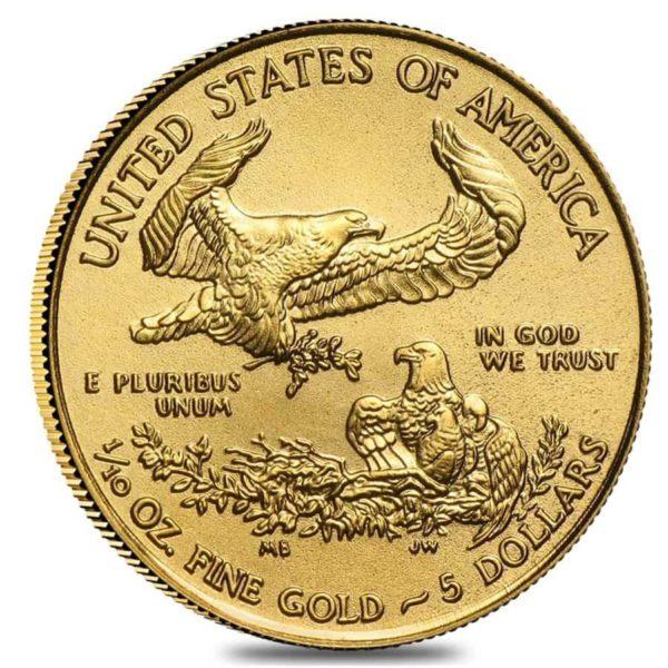 1/10 oz American Eagle goud (2021)