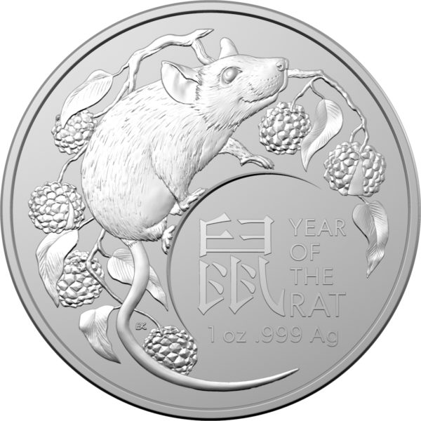 1 oz Australian RAM Lunar Rat zilver (2020)