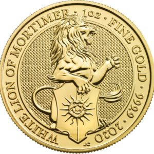 1 oz Queens Beasts White Lion goud (2020)