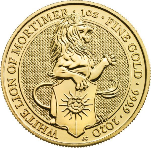 1 oz Queens Beasts White Lion goud (2020)