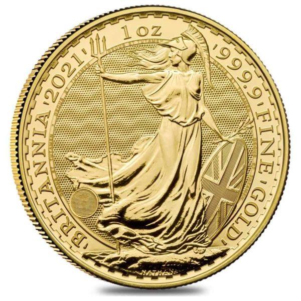 1/2 oz Britannia goud (2021)