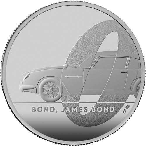 1 oz James Bond 007 DB5 UK Proof zilver (2020)