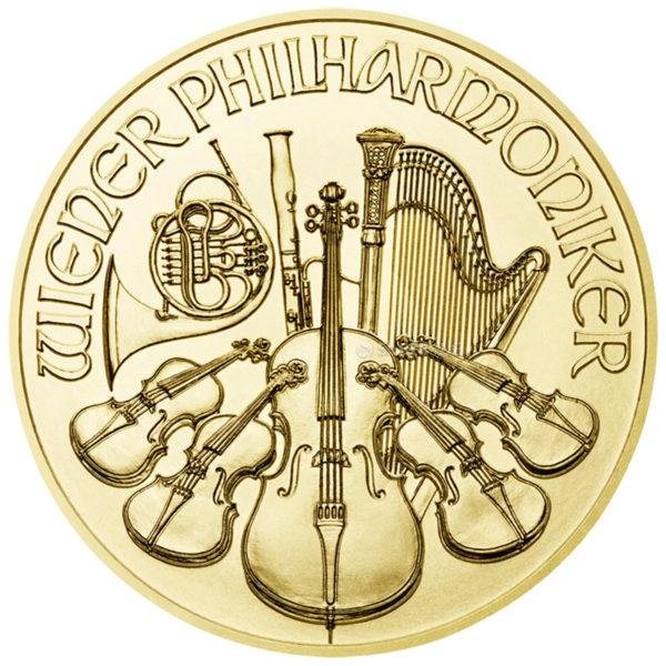 1/25 oz Vienna Philharmonic goud (2021)