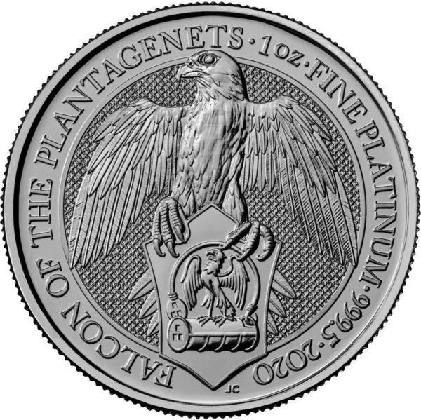 1 oz Queens Beasts Falcon platina (2020)