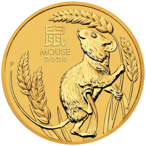 1/2 oz Australian Lunar III Mouse goud (2020)