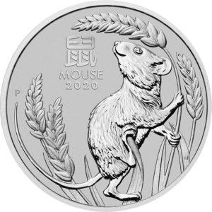 1 oz Australian Lunar III Mouse platina (2020)