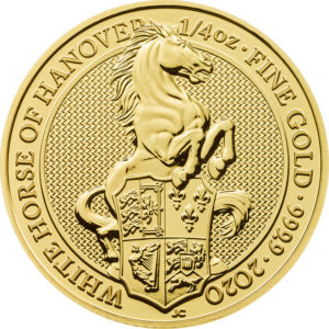 1/4 oz Queens Beasts White Horse goud (2020)