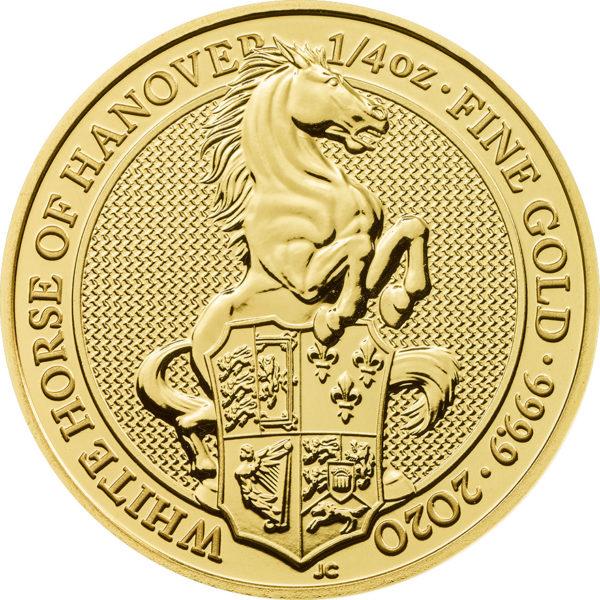 1/4 oz Queens Beasts White Horse goud (2020)