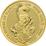 1 oz Queens Beasts White Horse goud (2020)