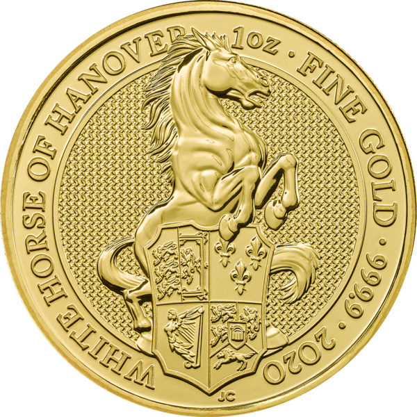 1 oz Queens Beasts White Horse goud (2020)