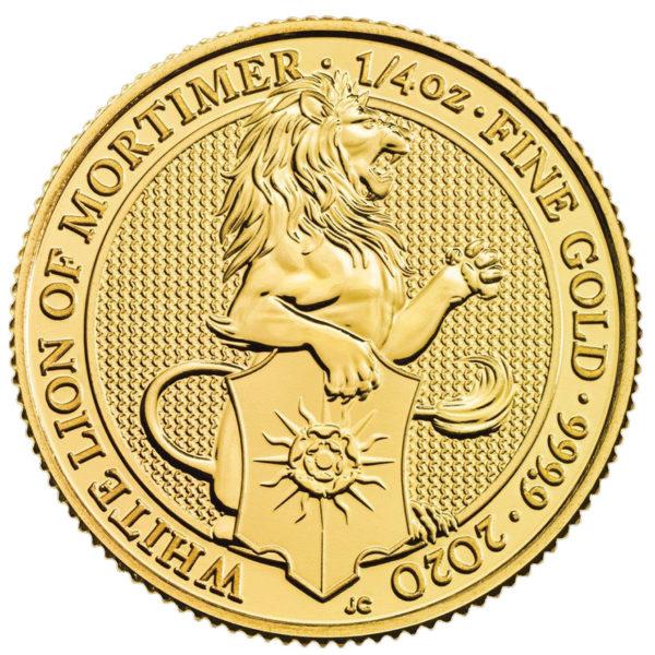 1/4 oz Queens Beasts White Lion goud (2020)