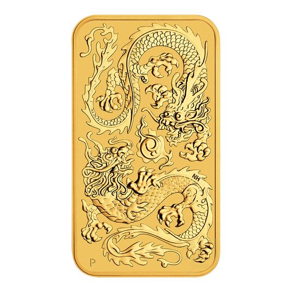 1 oz Australian Rectangular Dragon goud (2020)
