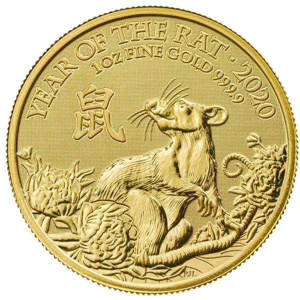 1 oz Lunar UK Rat goud (2020)