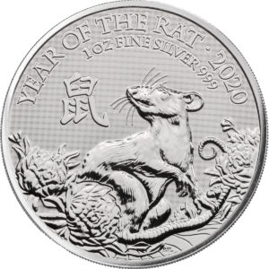 1 oz Lunar UK Rat zilver (2020)