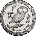 1 oz Niue Owl of Athens zilver (2021)