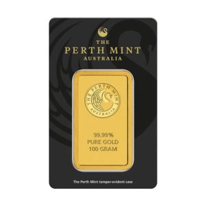 100 gram goudbaar Perth Mint