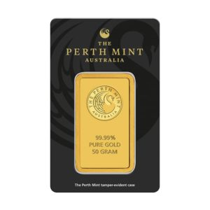 50 gram goudbaar Perth Mint
