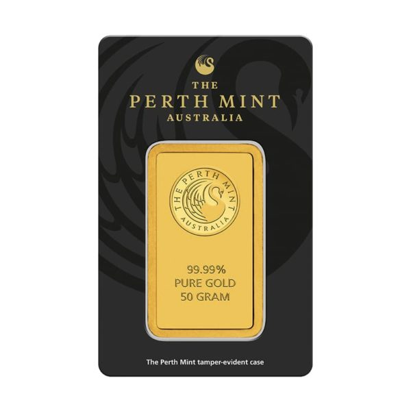 50 gram goudbaar Perth Mint