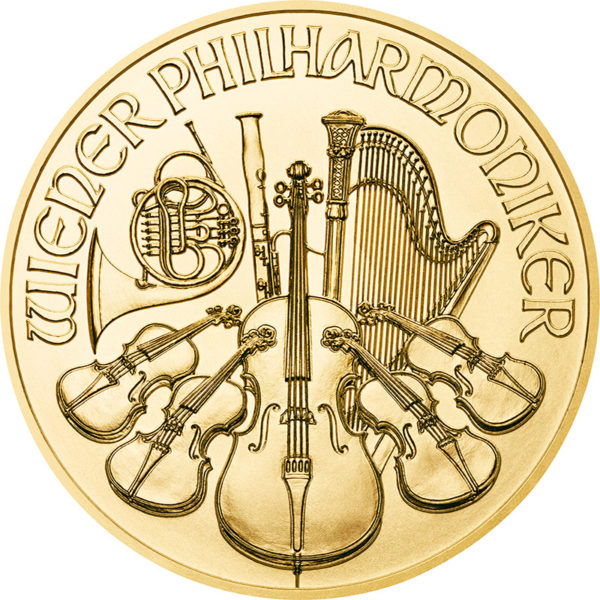 1/10 oz Vienna Philharmonic goud (2021)