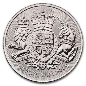 1 oz Royal Arms platina (2020)