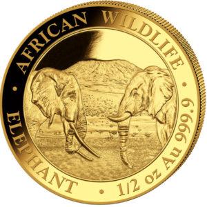 1/2 oz Somalia Elephant goud (2020)