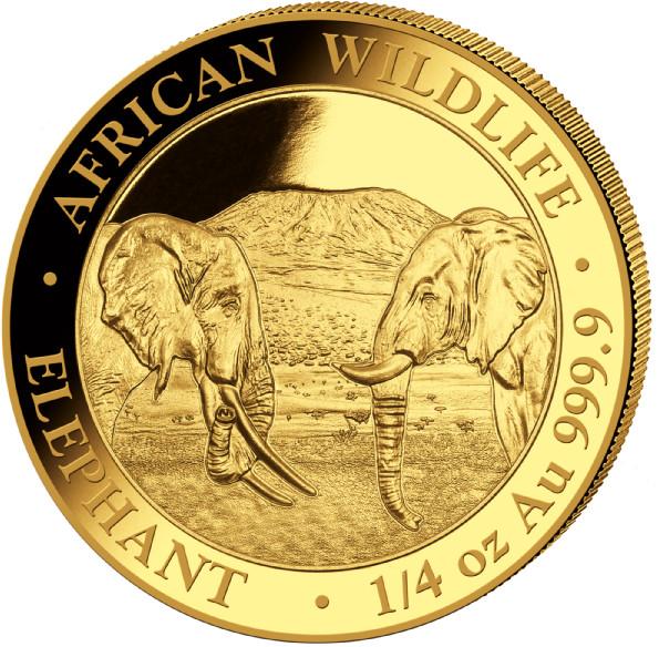 1/4 oz Somalia Elephant goud (2020)