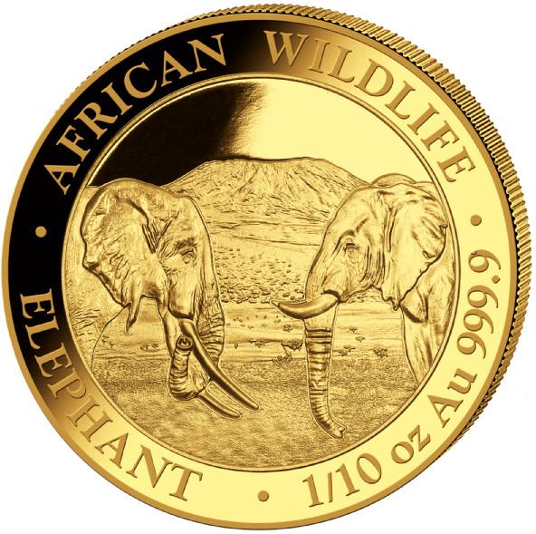 1/10 oz Somalia Elephant goud (2020)
