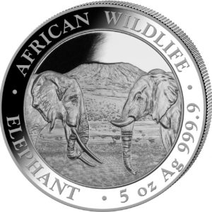 5 oz Somalia Elephant zilver (2020)