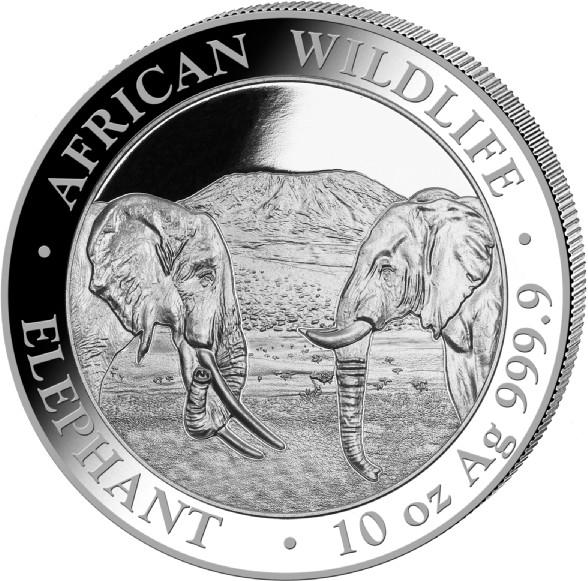 10 oz Somalia Elephant zilver (2020)
