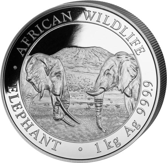 1 kg Somalia Elephant zilver (2020)