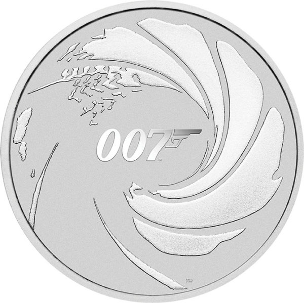 1 oz James Bond 007 Tuvalu zilver (2020)