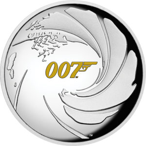 1 oz James Bond 007 Tuvalu Proof zilver (2020)