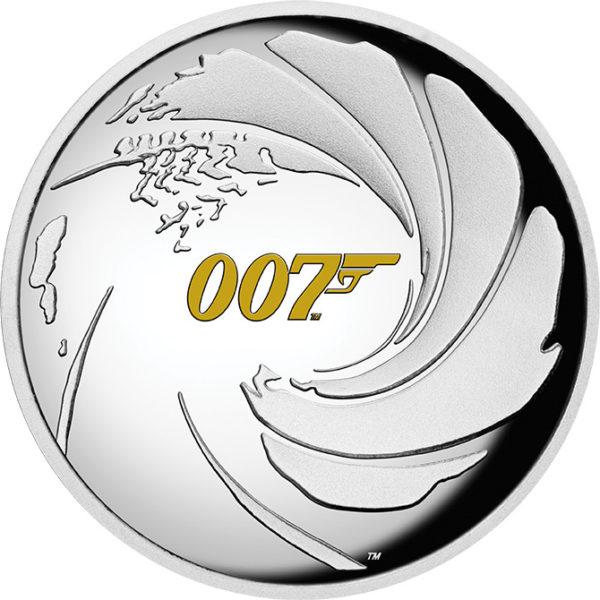 1 oz James Bond 007 Tuvalu Proof zilver (2020)